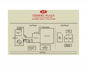 Crowne Plaza map
